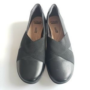 Clark's Collection Black Leather Ballet Flats